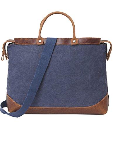 Menschwear Vintage Canvas Messenger Bags Casual Spalla Dell'imbracatura Pacchetto Daypack Verde Scuro Blu