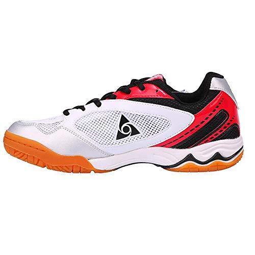 XIANGYANG Scarpe da pallavolo per Uomo, Scarpe da pallavolo Professionali Scarpe Sportive Funzionali per Adolescenti,Rosso,43
