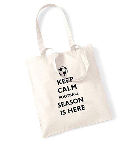 Keep calm football sono iniziate tote bag natur