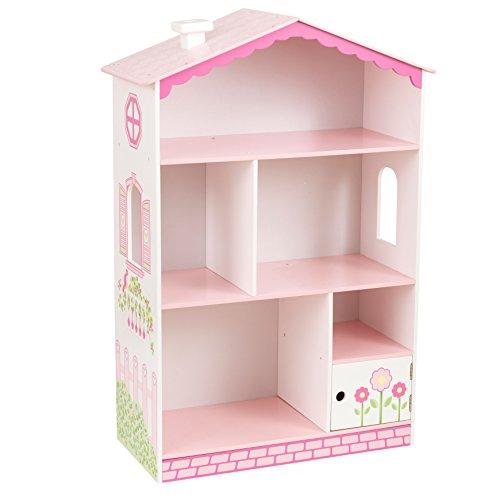 KidKraft 14604 Estantería infantil de madera con diseño casa de muñecas, muebles para salas de juego y dormitorio de niños
