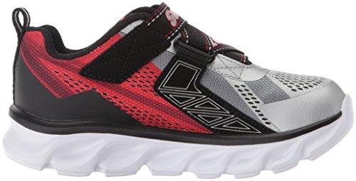 Skechers Basket, Couleur Gris, Marque, modèle Basket Hypno Flash Gris Silver/Red