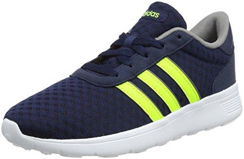 los angeles d38ec 984f0 adidas Unisex-Erwachsene Lite Racer Sneaker - Blau (Collegiate Navysolar  Yellow