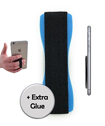 Case-Hero Premium Smartphone Fingerhalterung | inkl. ERSATZKLEBER | EINHAND Modus für Handy, Tablet, eReader | Hülle & Case | Auto Outdoor Finger Halterung | iPhone 6/7/plus, iPad, Samsung Galaxy.