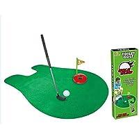 Cuarto de baño Putting Mat Indoor Mini WC Potty Putter Toilet Time Juego de entrenamiento de golf