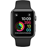 Apple S2 38mm Sport Band Watch (Space Grey/Black)