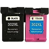 oyat® remanufacturados HP 302X L Cartuchos de tinta negro y color para uso con HP Envy 4524impresoras