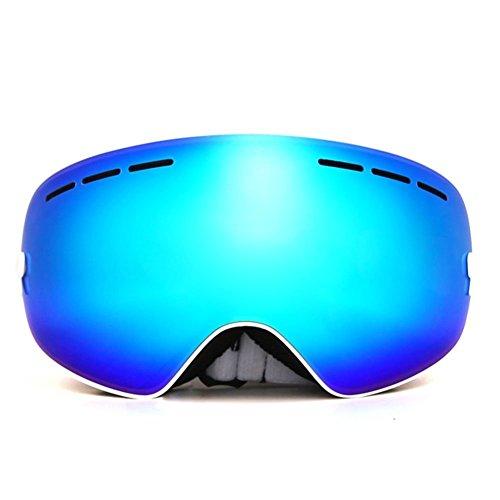 JoySki 7 Farben Profi Unisex Skibrille Mit Spiegel Beschichtung Anti Fog-UV400 Schutz Abnehmbare Weitwinkel Big Sphärische Doppelobjektiv für Freien Schnee Skifahren Snowboard Skate Snowmobile Motorrad Wintersport Brillen (Original Box einschließen)