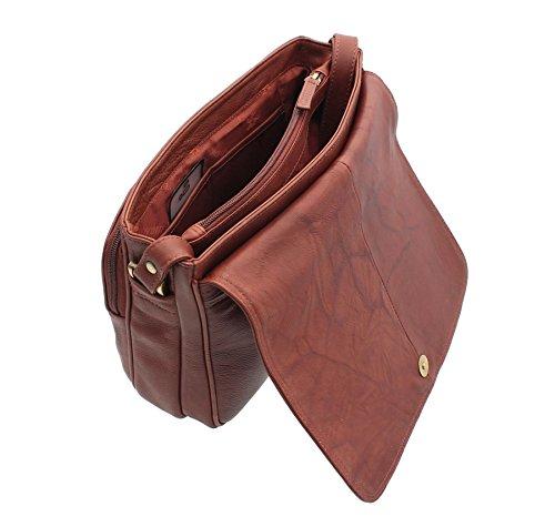 Visconti Style Borsetta in Pelle 03190 Marrone Marrone