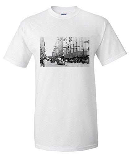 seattle-washington-view-of-a-downtown-street-corner-old-woolworth-bldg-premium-t-shirt