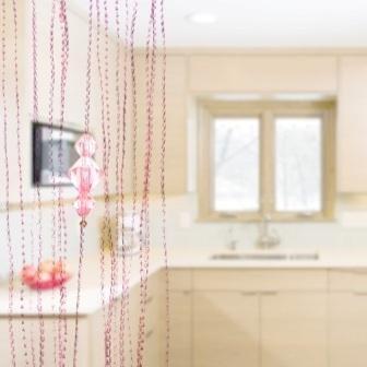 Preisvergleich Produktbild 200cm100cm Home Dekoration Bead Vorhang Kristall Trennwand String Vorhang Tür Zimmertür Gardinen ^ Pink
