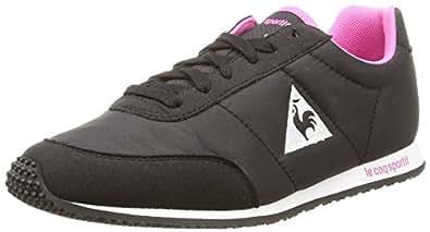 Le Coq Sportif Racerone Classic, Sneakers Basses femme, Noir (Black/Ibis Rose), 36 EU