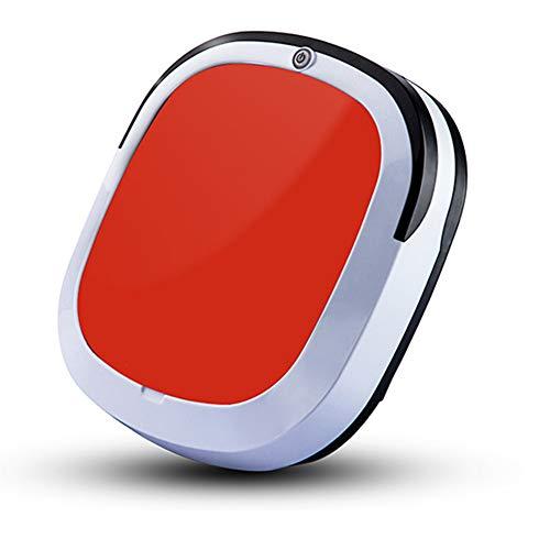 E-KIA Staubsauger Roboter Staubsauger Staubsaugerbeutel Mechanischer Staubsauger (1500 Pa, Fallschutz, Staubdichte Box, Geeignet FüR Harte Und DüNne Teppiche),red