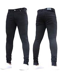 Dihope Homme 1 Pièce Vintage Pantalon Serré Denim Trou Biker Jeans Skinny  Cargo Straight Slim pour 448d664362d