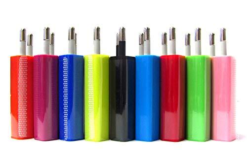 Luvfun USB Netzteil USB Ladegerät,Ladegerät Charge Reiseadapter mit iSmart Technologie Weiß [2-Pack] -