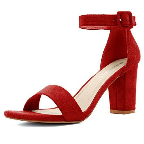 Sandalo Rosso Tacco Grosso - 36 QE8zT8je
