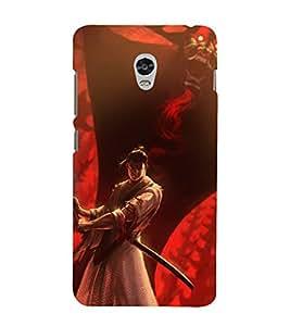 printtech Samurai Aku Cartoon Back Case Cover for Lenovo Vibe P1