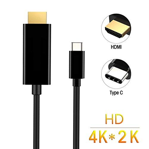 Philonext USB-C zu HDMI-Cable(5.9ft/1.8m), USB-3.1 (Thunderbolt 3 kompatibel) Typ c männlich männliche 4K HDMI Kabel für 2016 Huawei MateBook & mehr 2015 MacBook, MacBook Pro, ChromeBook Pixel