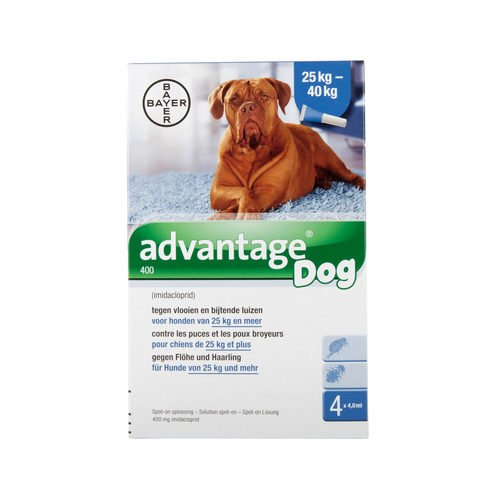 Advantage 400 (perros 25 – 40 kg) – 4 pipetas de 4 ml