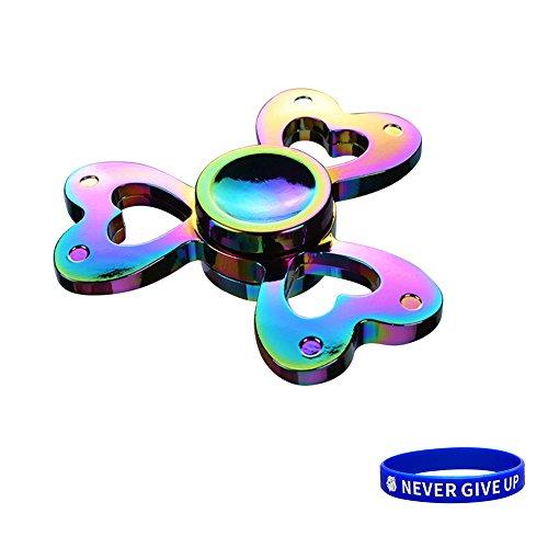Preisvergleich Produktbild SWAMPLAND Tri-Spinner Fidget Spielzeug Stress Reducer - ideal für Zeit totschlagen Spielzeug Erwachsene Kinder (Drei Blätter (Herz))