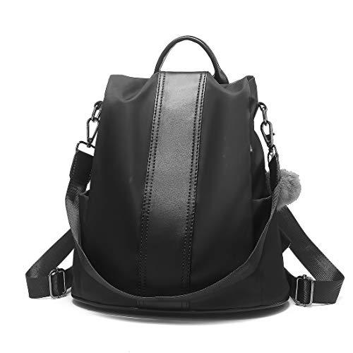 Woeita Frauen Rucksack, Damen Stilvolle Rucksack Wasserdichte Nylon Schultaschen Diebstahl Lässige Dayback Umhängetaschen Leichte Reise Daypack (Wasserdichte Damen Rucksäcke)