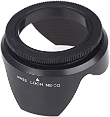 SLB Works 62mm Screws Wreaths Petal Lens Hood for Nikon Sigma Sony Tamron Black S L3 R0P5