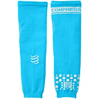 Compressport Arm Force - Calentadores de brazos de running para hombre, color azul, talla M
