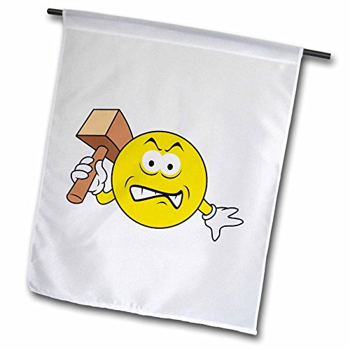 3drose FL _ 103832_ 1Baseball Hat Smiley, Garten Flagge, 12von 18 (Garten Benutzerdefinierte Flag)