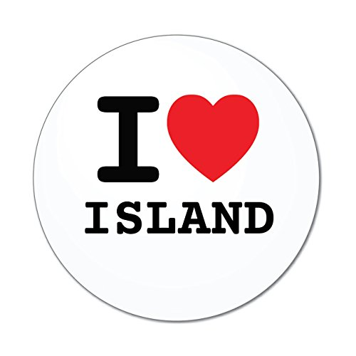 Preisvergleich Produktbild JOllify Aufkleber - ISLAND – Farbe: Design: I love - Ich liebe