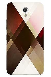 Omnam Check Pattern Printed Designer Back Cover Case For Lenovo Zuk Z1