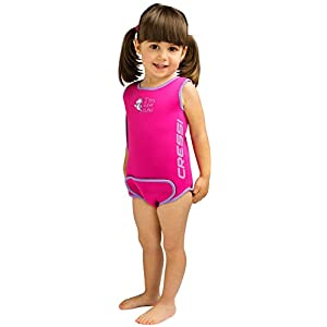 Cressi Infant Baby Warmer Thermal Neoprene Wetsuit,Pink,18/24 months