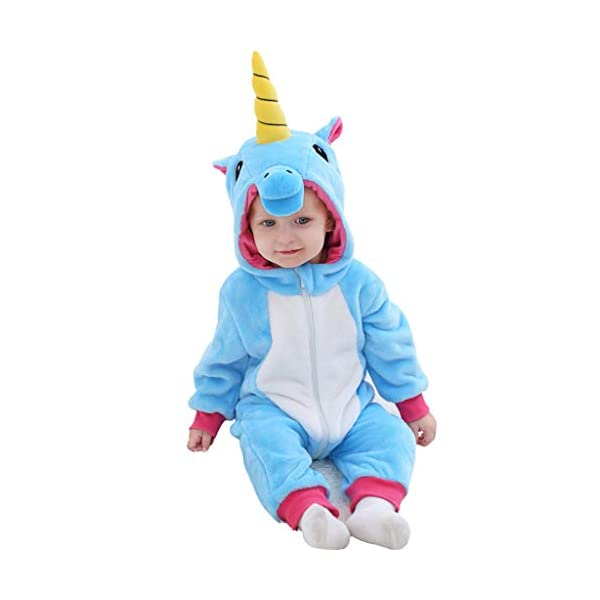 Bebé Capucha Mameluco Mono Franela Pelele Trajes Infantil Otoño Pijama Niños Niñas Jumpsuit Ropa 1