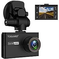 TOGUARD Caméra Embarquée Voiture Mini Dashcam Voiture avec Écran LCD de 1.5 Pouces, Caméra de Voiture Full HD 1080P et Grand Angle, avec Super Condensateur (Capteur de Gravité)