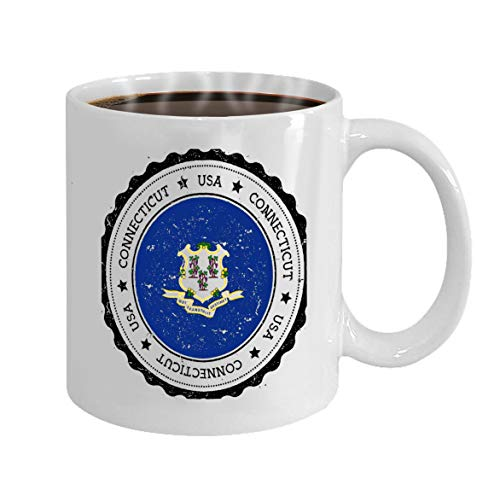 Funny Coffee Mug Gift connecticut flag badge connecticut flag badge grung -