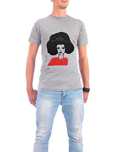 """Design T-Shirt Männer Continental Cotton """"Schiffsfrau"""" - stylisches Shirt Abstrakt Natur Reise Reise / Strand und Meer Menschen von Mia Nissen Grau"""