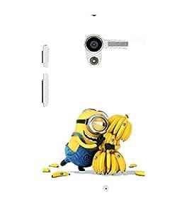 printtech Yellow Funny Chiquita Banana Cartoon Back Case Cover for Motorola Moto X XT1058 / Motorola Moto X (1st Gen)