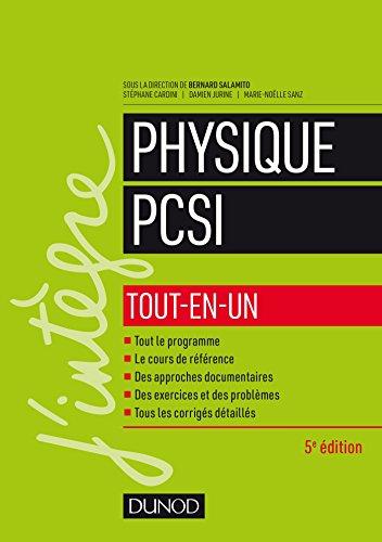 Physique PCSI - Tout-en-un - 5e éd. par Bernard Salamito