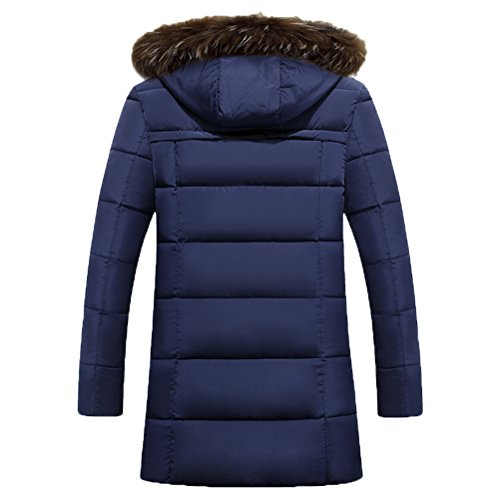 Zhuhaitf Winter Mens Long Coats Hooded Outerwear Plus Thicken Down Jackets Coats gray