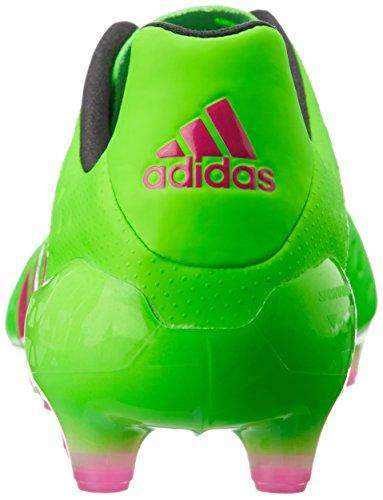 adidas Ace 16.1 FG/AG, Chaussures de Foot Homme, Mehrfarbig, 40 EU Grün (Solar Green/Shock Pink/Core Black)