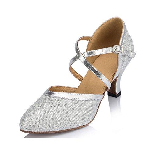 Doris , Damen Tanzschuhe Silber