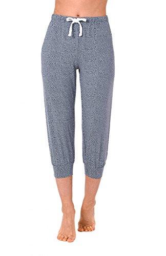 Damen Pyjama Capri Hose 3/4-lang - Mix & Match - ideal zum kombinieren 223 90 904, Größe:48/50;Farbe:blaumelange (Capri-pyjama-hose)