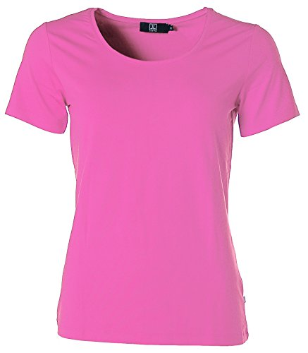 Jette Damen Basic Kurzarm Shirt T-Shirt Rundhals Rosa 38