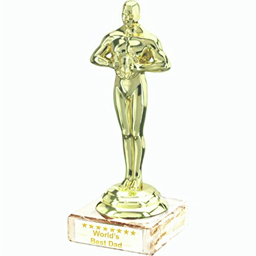 Father's Day 7 Inch Oscar Trophy Worlds Best Dad by