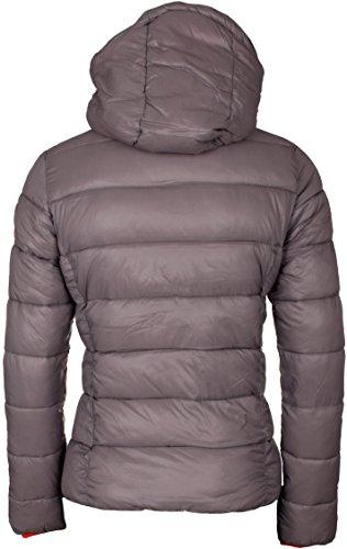 4F giacca piumino da donna giacca invernale, giacca per il tempo libero/trapuntata modello kud001 Antracite chiaro