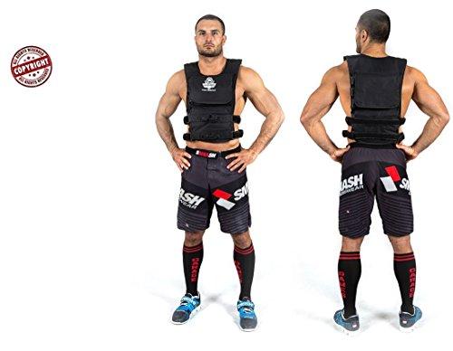 Mit Gewichten beschwerte Weste für den Muskelaufbau, Marke Bushido, 18oder 30kg mit anpassbarem Bund und anpassbaren Schultern