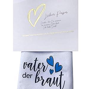 Brautvater Taschentuch -> mit RUBBELKARTE -> Hochzeit Geschenk Brautvater - Stofftaschentuch für Freudentränen Vater der Braut, Papa (Brautvater)