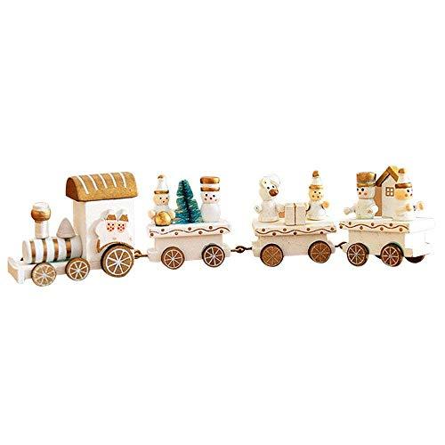 Gaddrt Spielzeug Weihnachtsdekorationen Weihnachten Holz Kleiner Zug Kinder Kindergarten Festlich 25x5cm