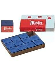 Master - Tiza para billar (paquete de 12 unidades)