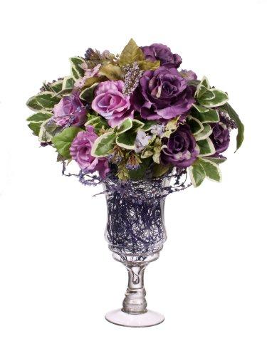 Closer To Nature 55 centimetri Viola Rosa Esposizione a Tall Calice vaso di vetro