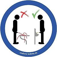 Pissoir nutzen - 4 Stück Saubere Toilette/WC Aufkleber (rund) Hygiene Aufkleber von immi.de