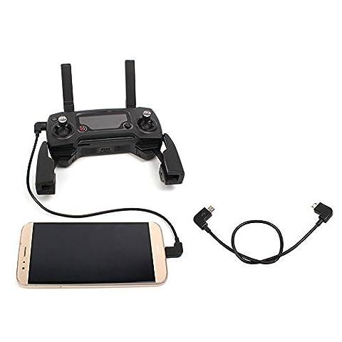 Owoda Micro USB à Micro USB Câble de données 90 degrés Corde Pour DJI MAVIC PRO / SPARK Pour Android Mobilephone
